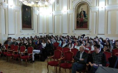 Predavanja u gimnaziji J. J. Zmaj u Novom Sadu