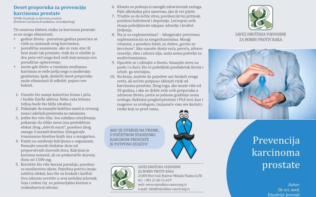 Dr sci. med. Dimitrije Jeremić – Prevencija karcinoma prostate